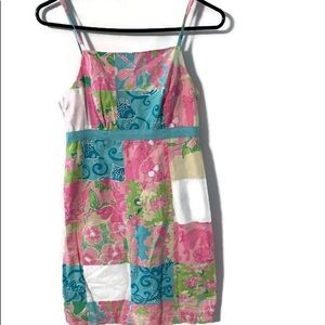 Lilly Pulitzer vintage patch dress size 0